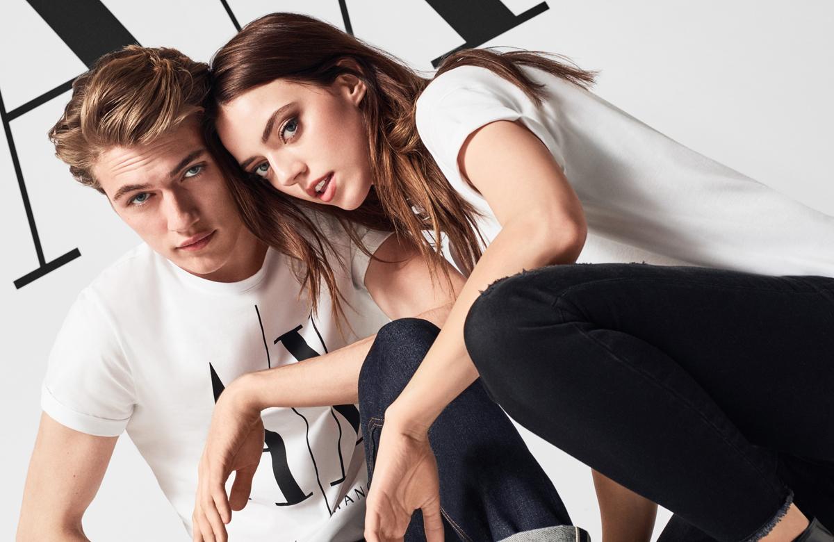 Пайпер Америка и Лаки Блу Смит представят нова колеция на Armani Exchange
